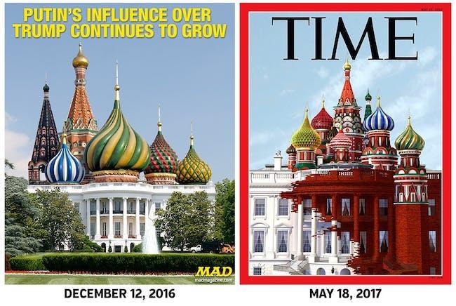 TIME magazine Mad magazine covers