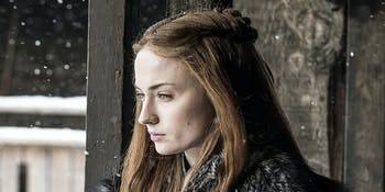 Sophie Tuner as Sansa Stark in 'Game of Thrones' Season 7