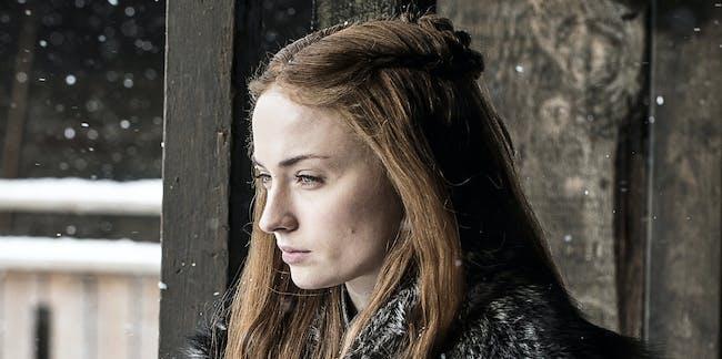 Sophie Tuner as Sansa Stark in 'Game of Thrones' Season 7