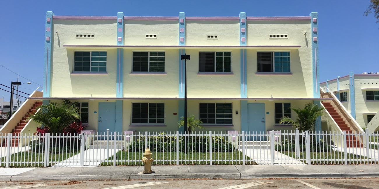 Art Deco Apartment Complex Little Havana