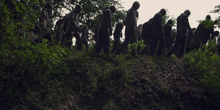 the walking dead whisperers rosita eugene josh mcdermitt christian serratos