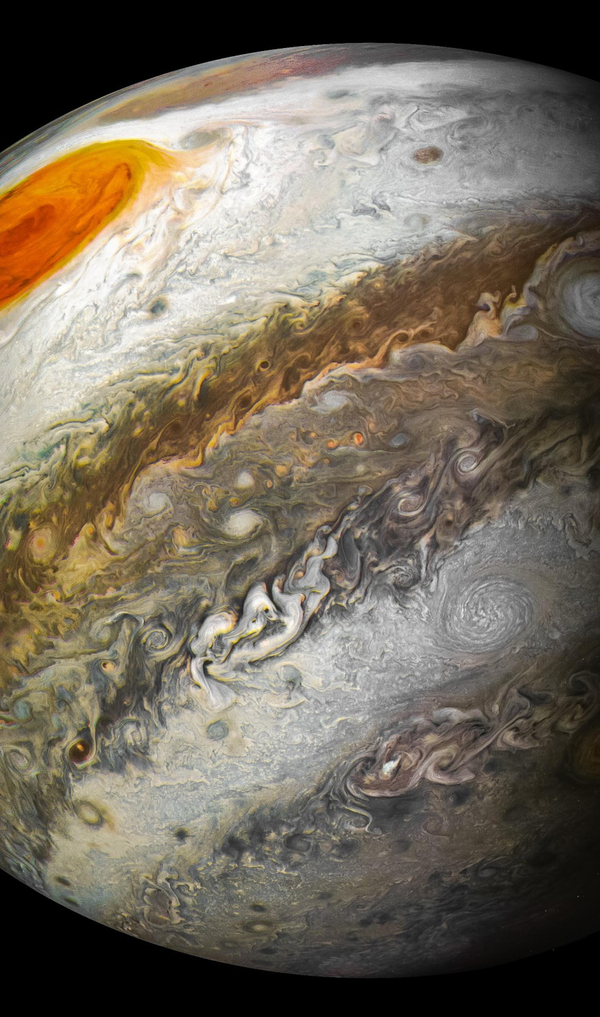 Jupiter's Great Red Spot Captured by Juno in Stunning NASA Photos
