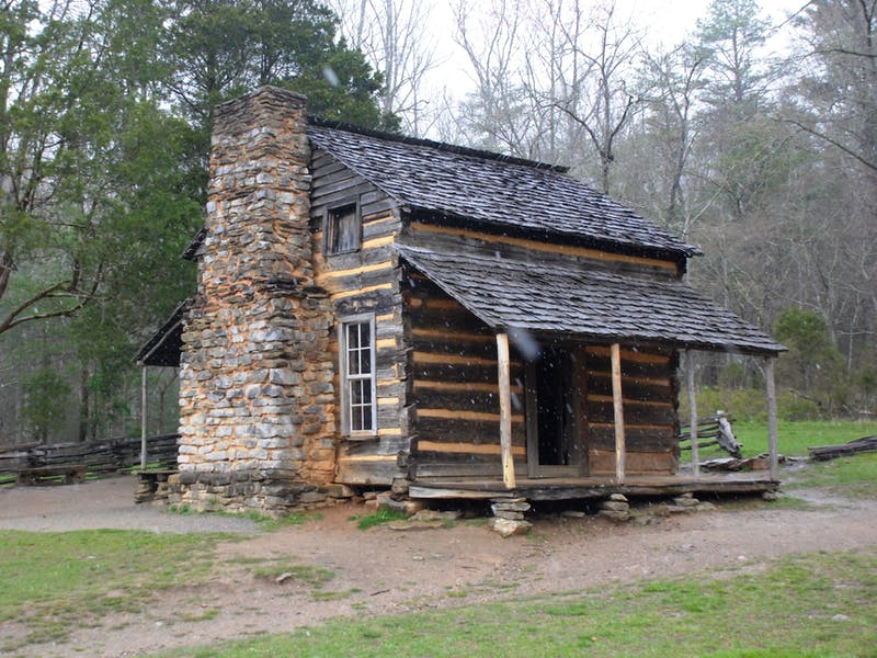 creepy cabin chimney