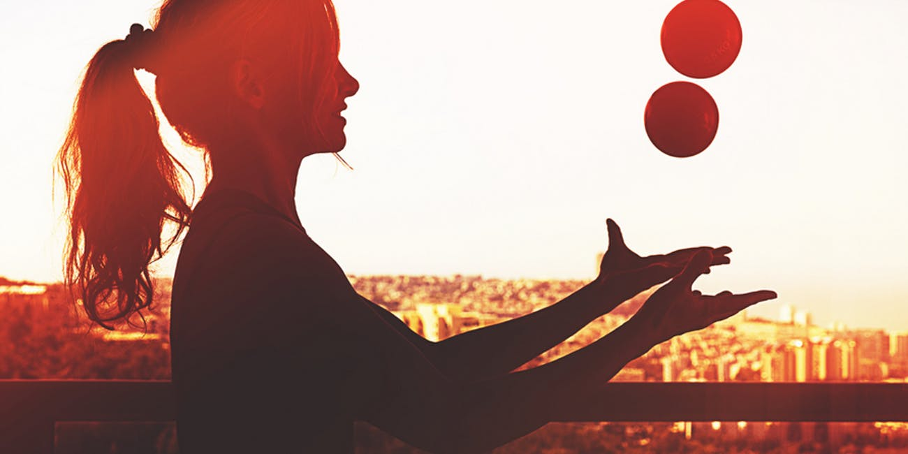 Juggling can help improve your brain power.