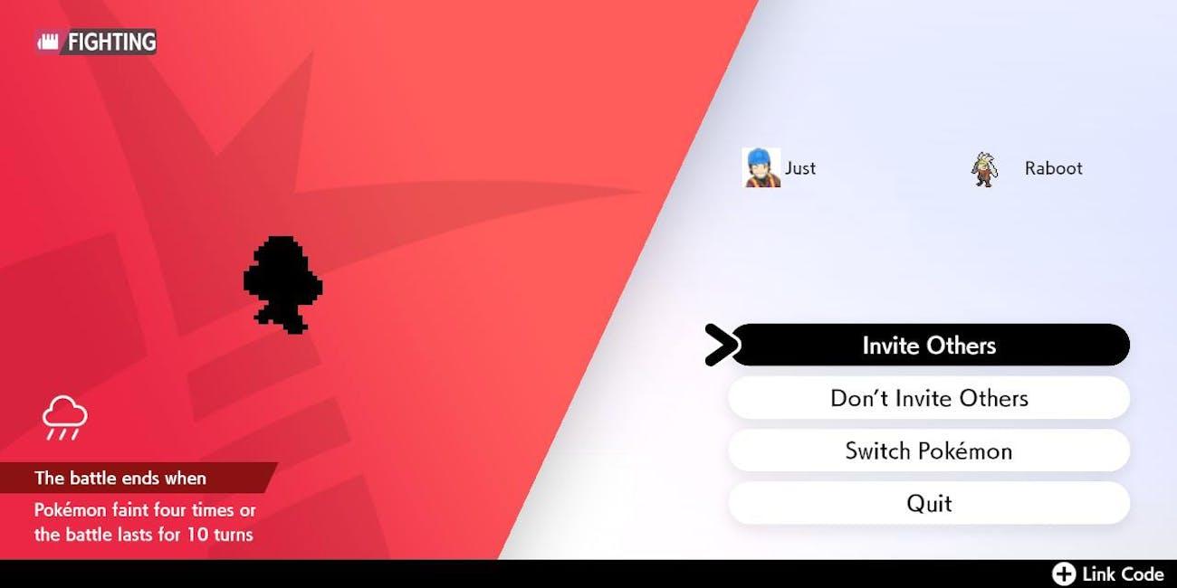 Pokemon Sword and Shield Max Raid Battle Link Code
