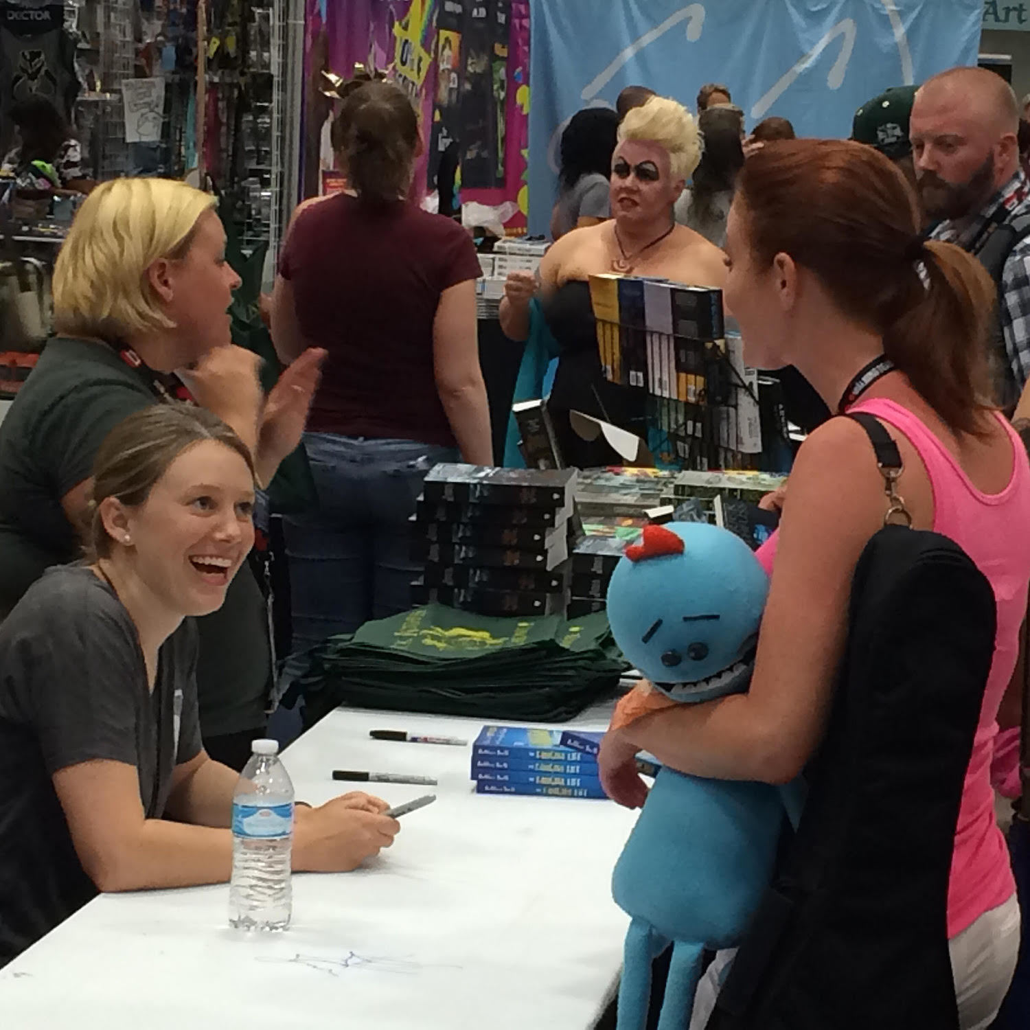 Kathleen Smith signing her books at San Diego Comic Con 2016