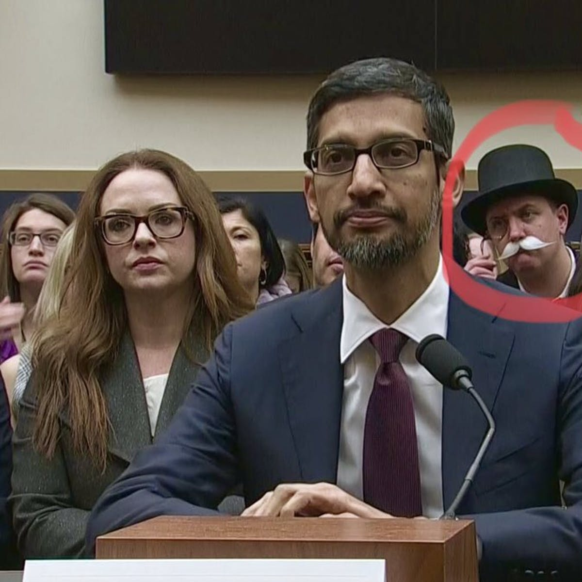 monopoly man google hearing