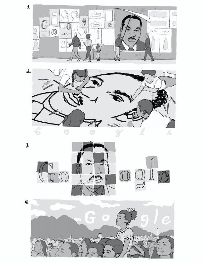 mlk day google doodle drafts