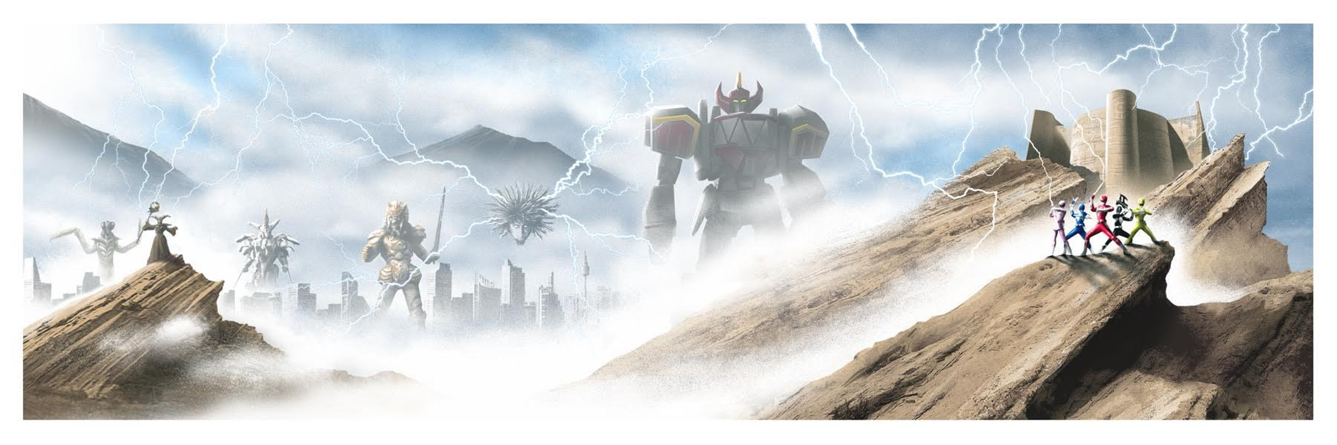 JC Richard's collectible screenprint for 'Power Rangers: The OG Soundtrack.'