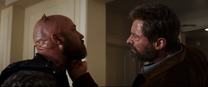 Scene from International 'Logan' trailer red-band