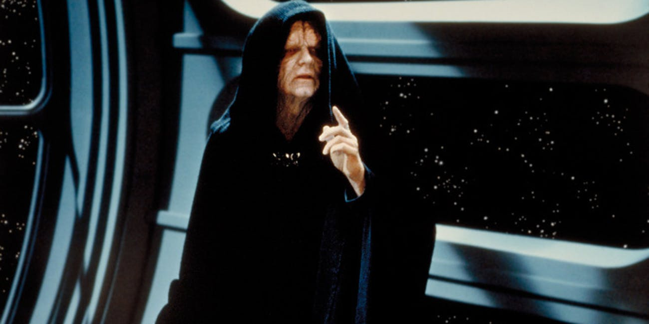 Emperor Palpatine ends up in 'Catalyst,' the 'Rogue One' novel.