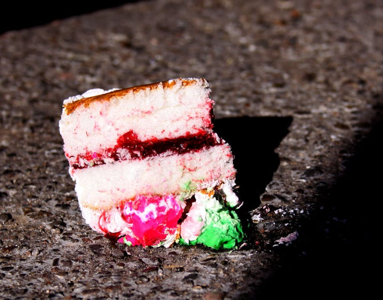 Cake on the ground