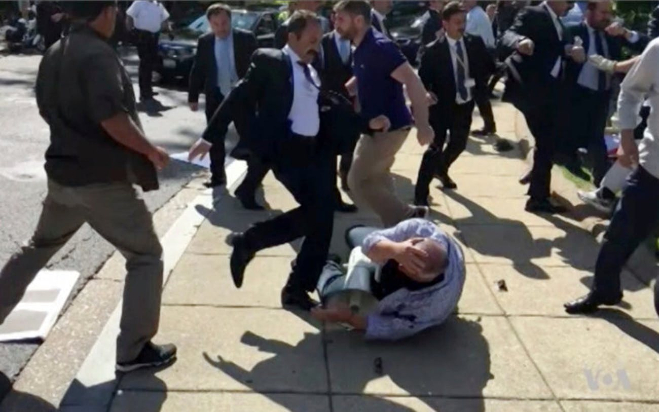 turkish guard fight washington