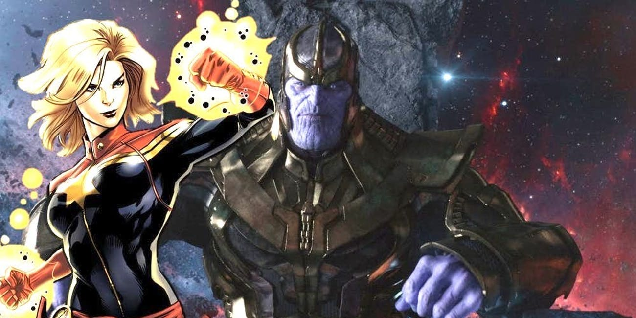 Thanos Capatain Marvel Infinity War