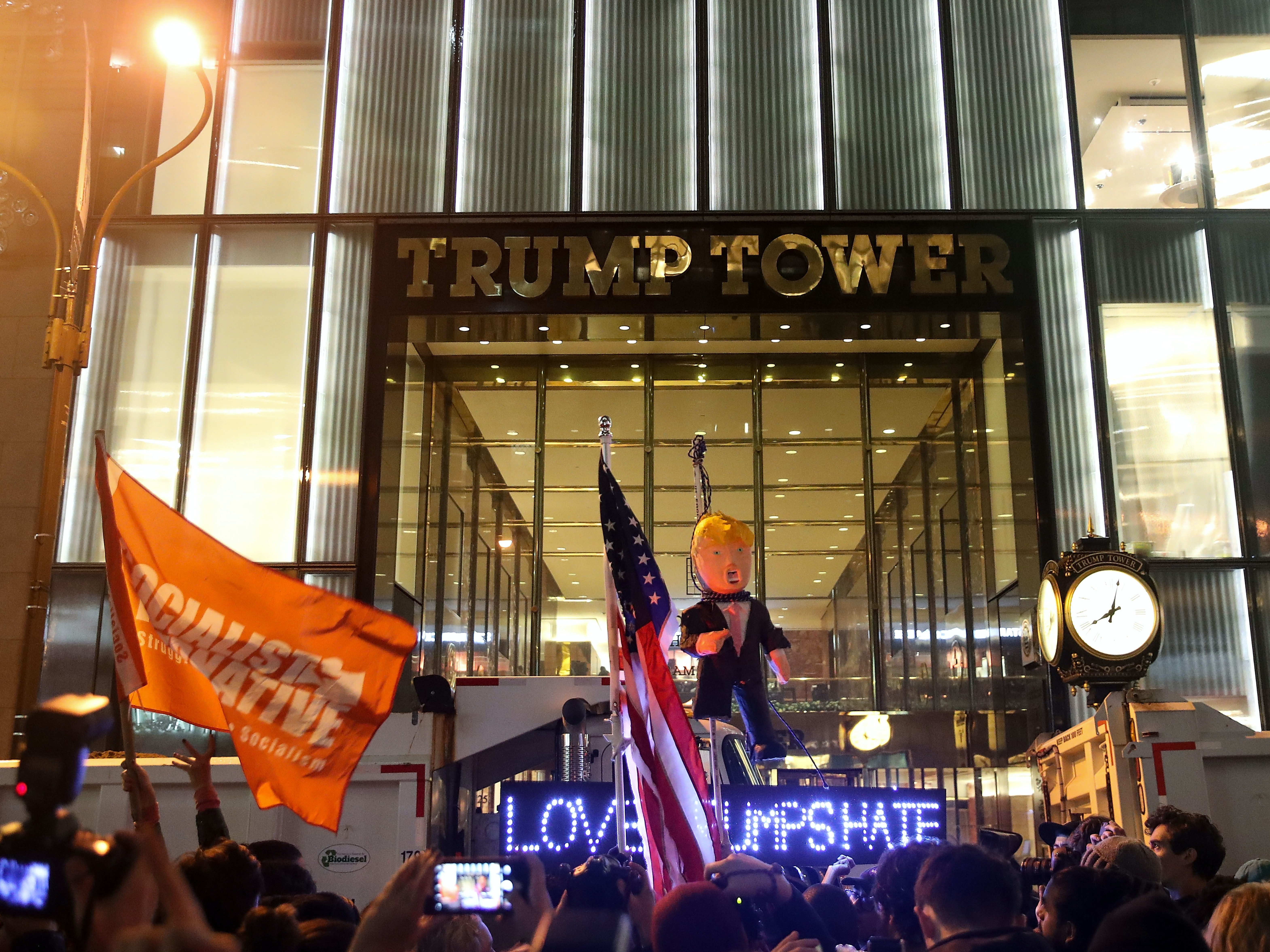 Protests like this one on Wednesday night have sprung up all around the country.