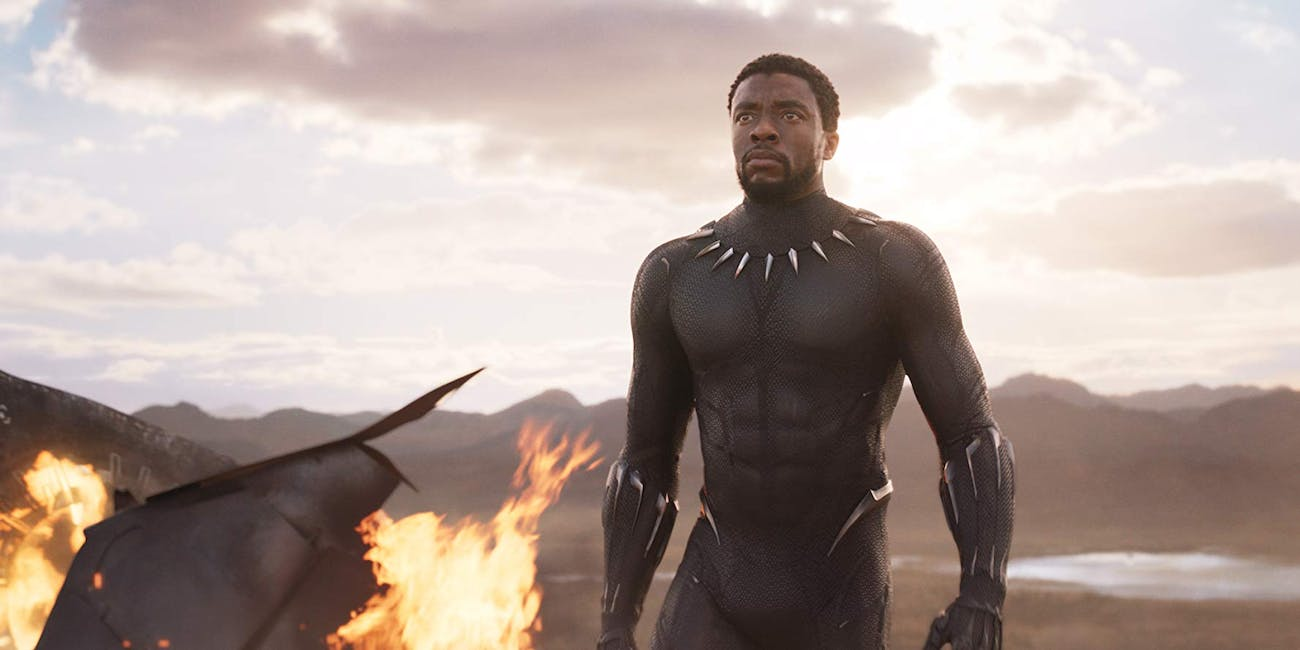 Chadwick Boseman as 'Tchalla' in Disney/Marvel's 'Black Panther' (2018)