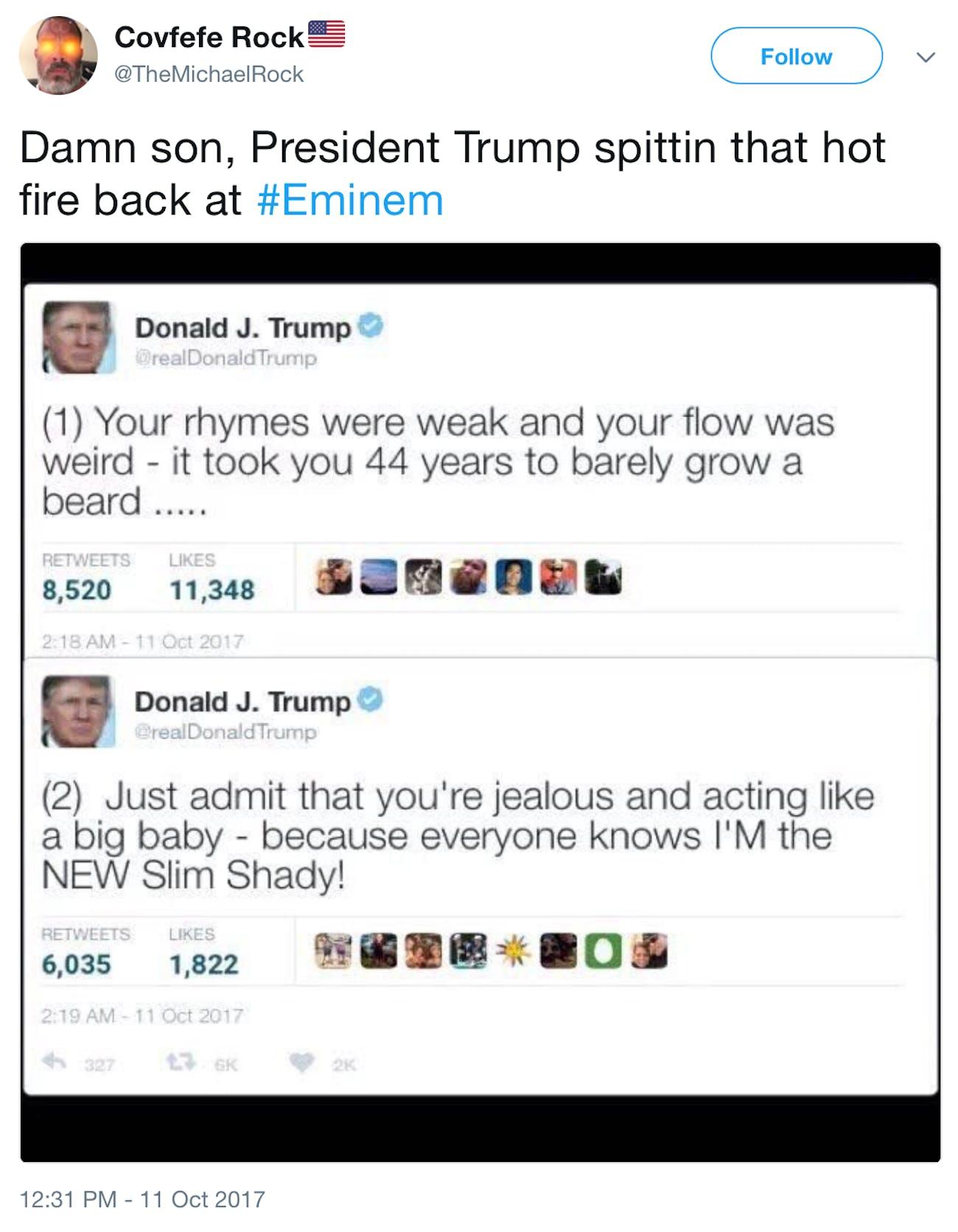 Trump's possible response.