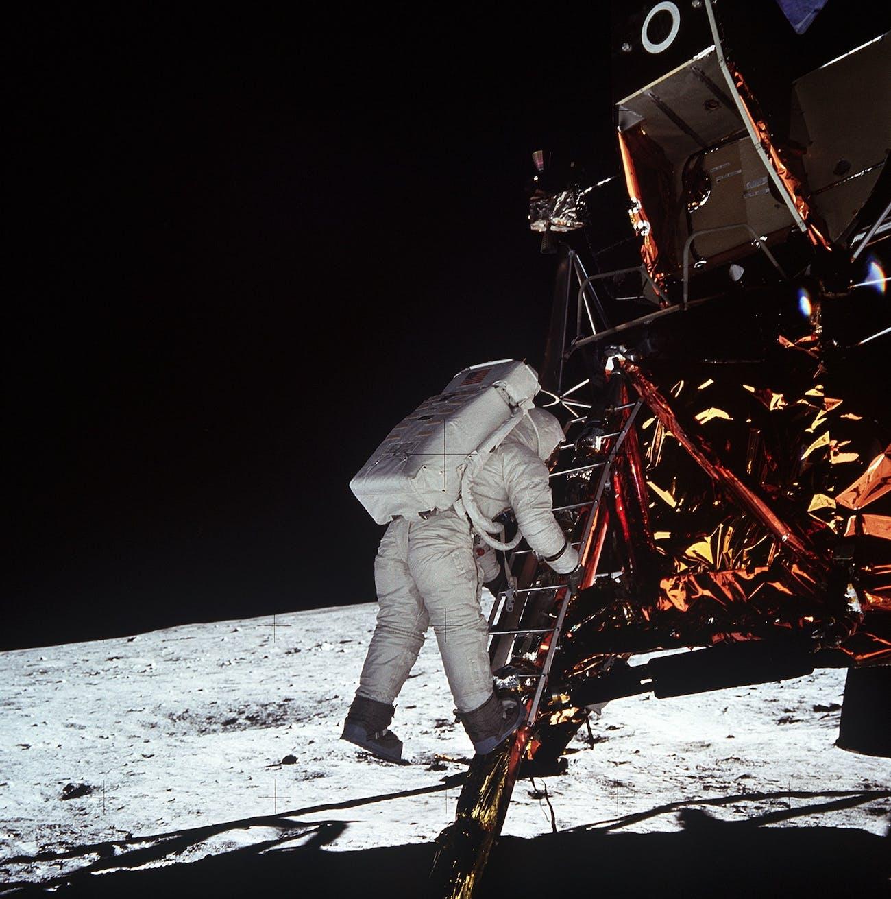 Buzz Aldrin moon 1969