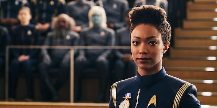 Burnham and Sarek in 'Star Trek: Discovery'