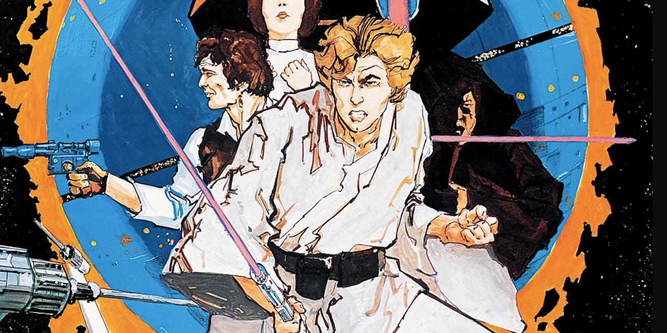 1976 'Star Wars' promotional art.