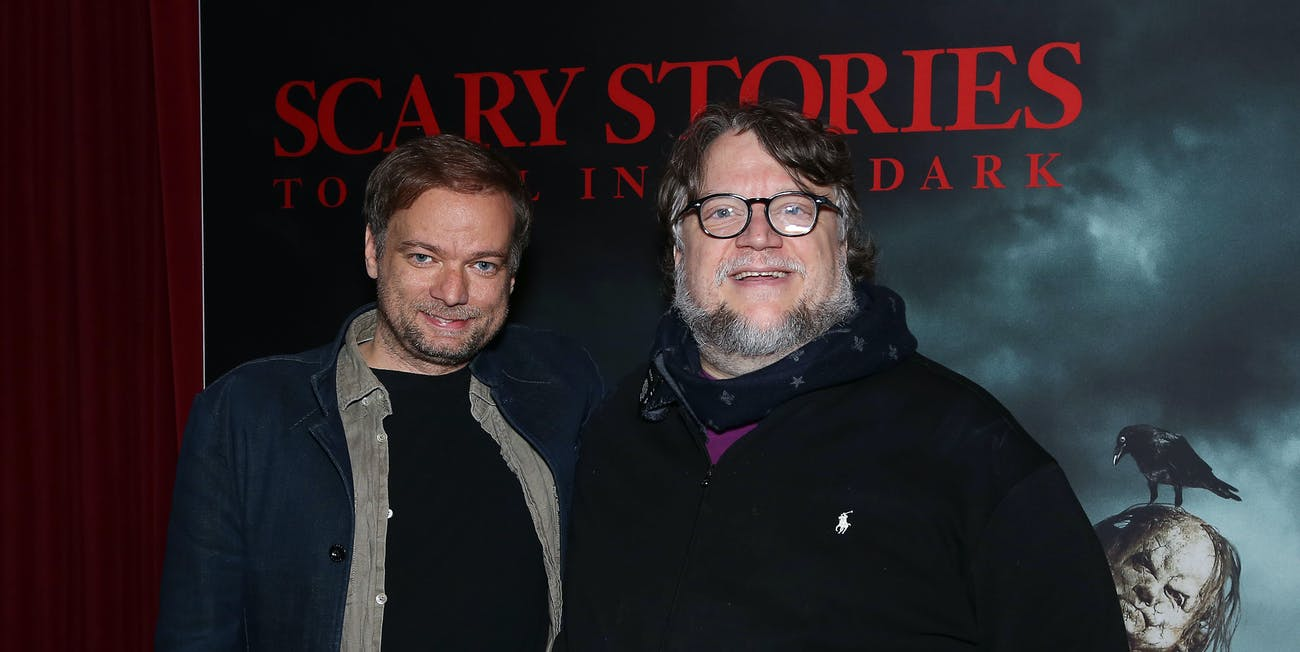 André Øvredal with Guillermo del Toro on Monday in New York.