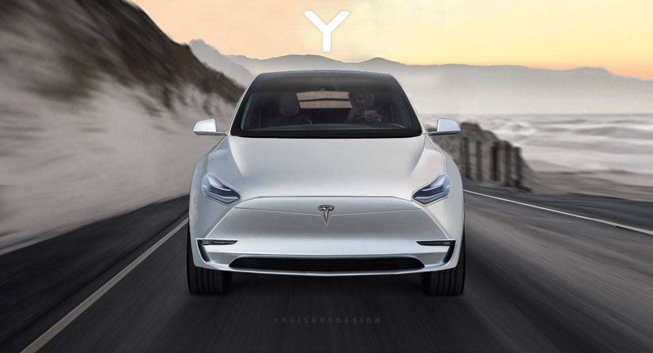 Tesla Model Y concept art.