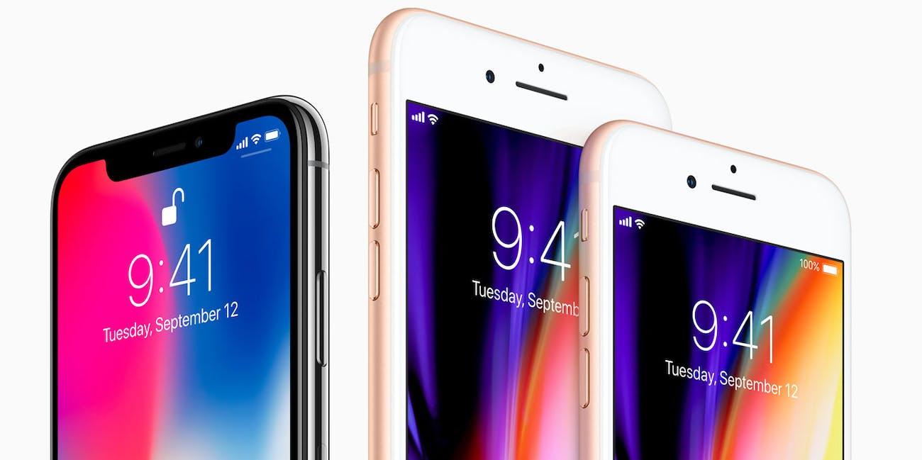 apple iphone x iphone 8 smartphones