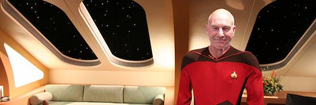 Enterprise-D crew quarters with captain Jean-Luc Picard