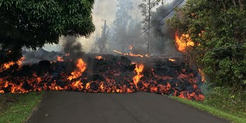 Volcano, Hawaii, lava