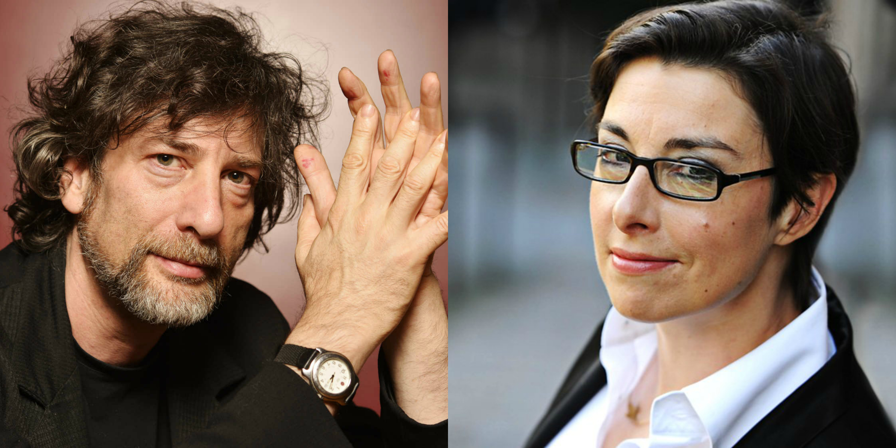 Author Neil Gaiman (left) is an advocate for Sue Perkins (right) being the first female Doctor on 'Doctor Who.'