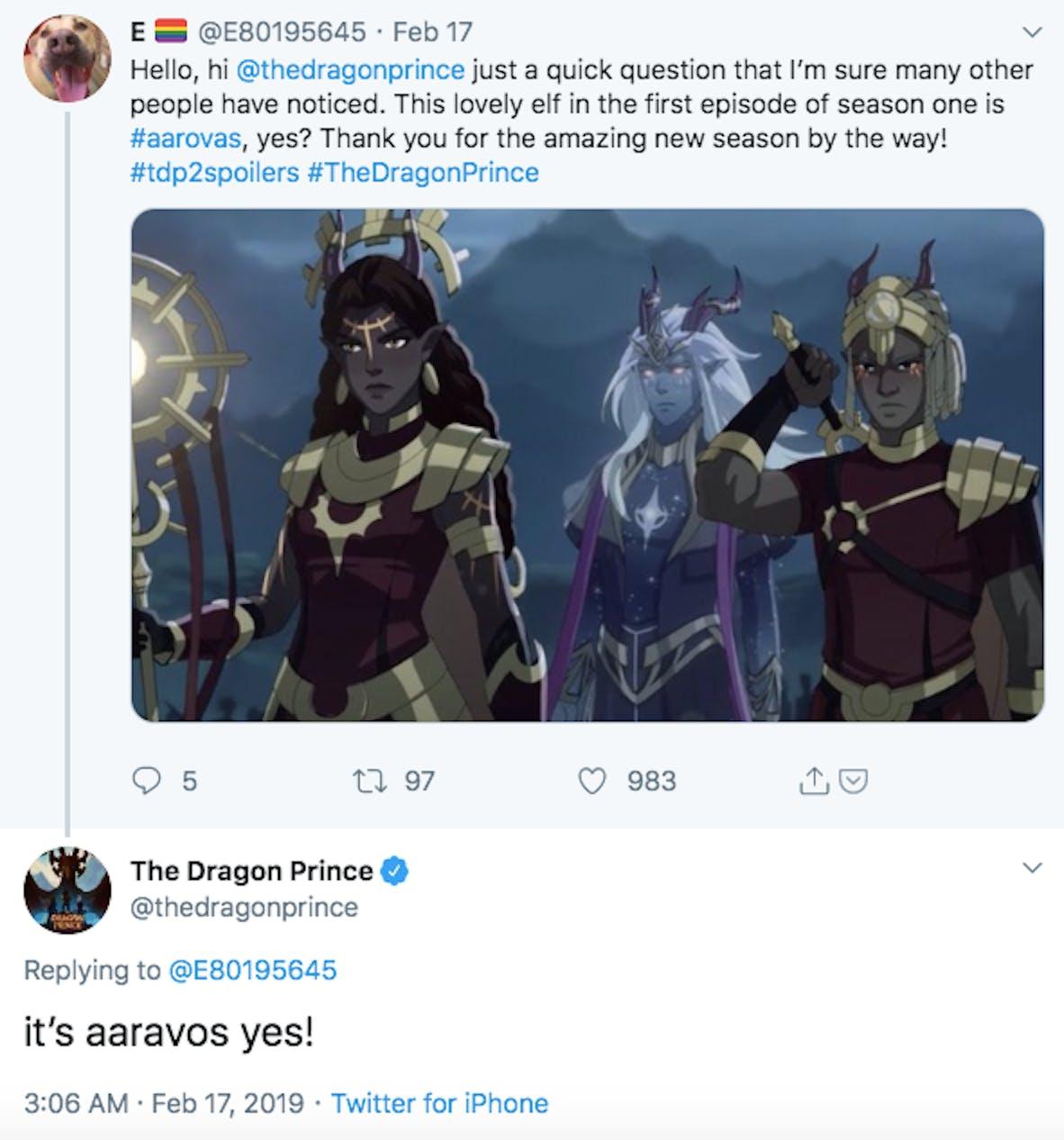 dragon prince seaosn 3 aaravos spoilers