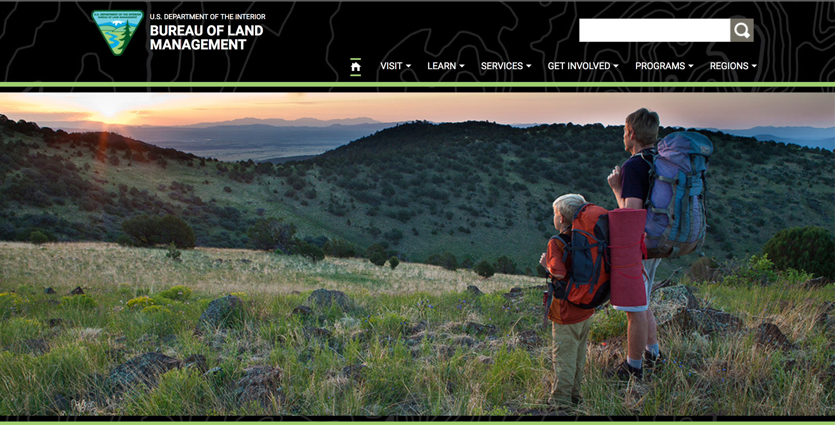 Here's what the BLM front page looked like on April 5.