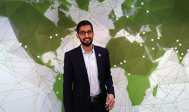 Sundar Pichai drafted the letter demanding Google drop its contract with the Pentagon.