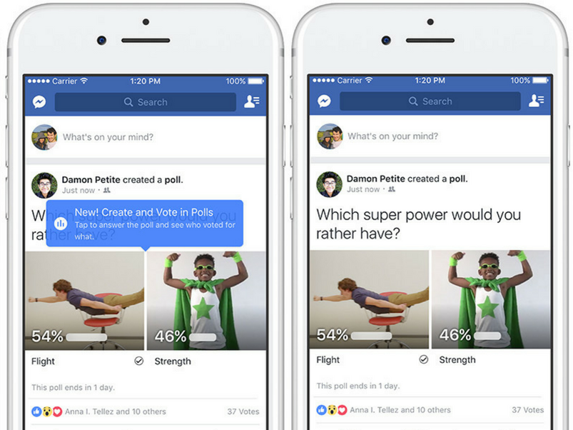 Are Facebooks New Polls Anonymous The Feature Rolled Out Today And No Theyre Not Inverse