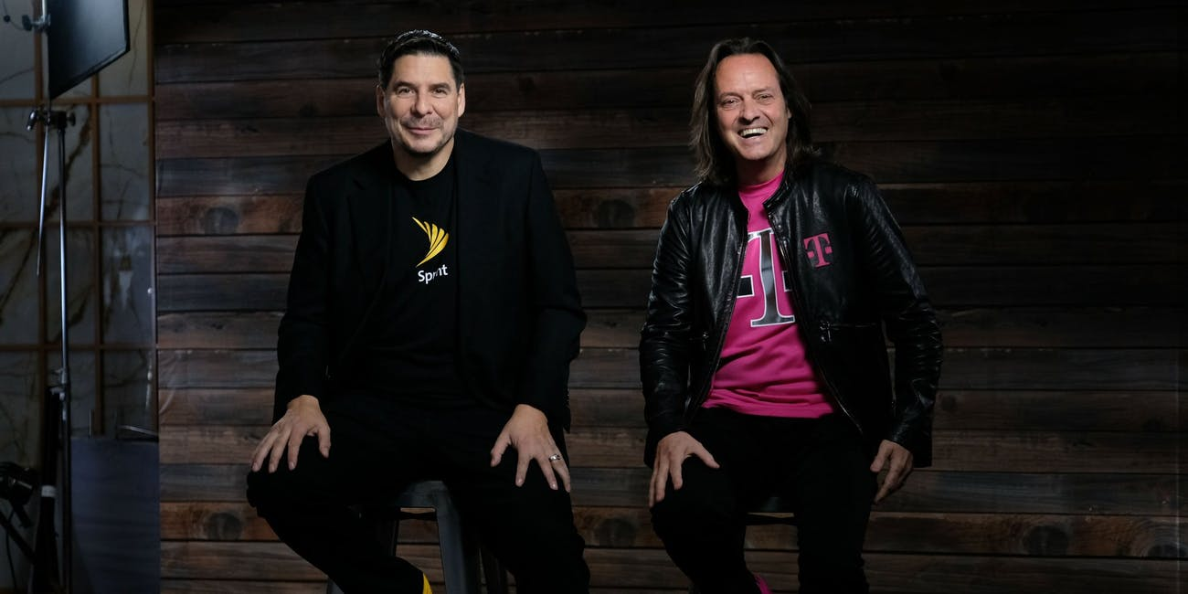 Tmobile Sprint CEOs