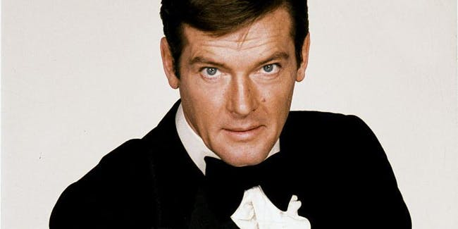 Roger Moore in an MGM poster.