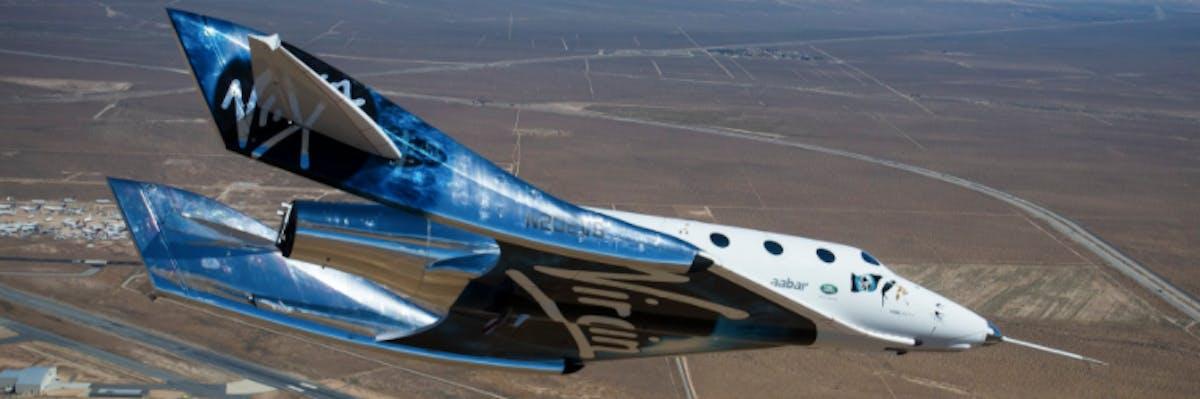 The VSS Unity SpaceShipTwo Virgin Galactic