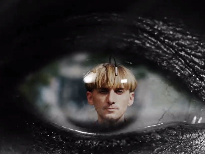 Neil Harbisson, a prominent transhumanist that spoke at the Human x Design Conference, wears an implant that lets him hear color.