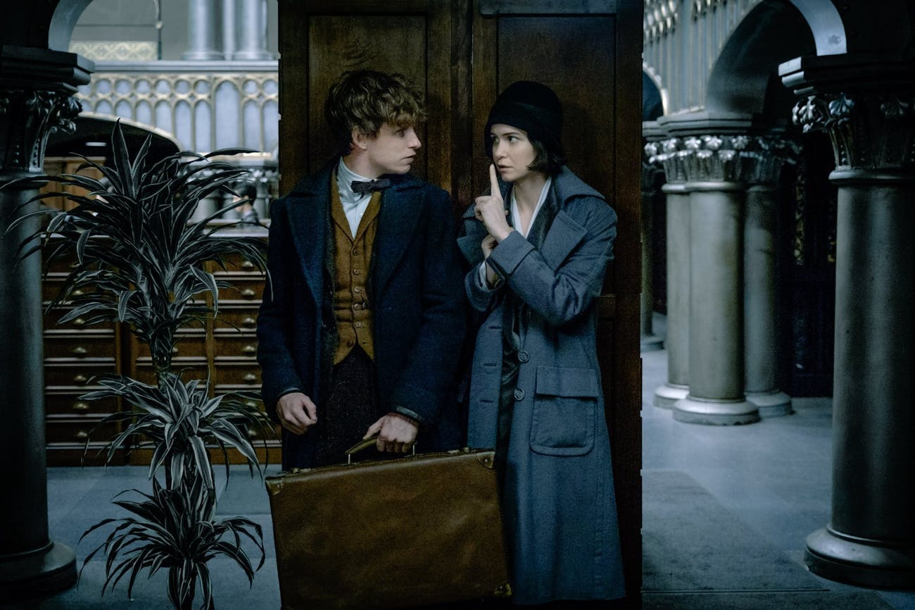 Eddie Redmayne and Katherine Waterston in 'Fantastic Beasts'
