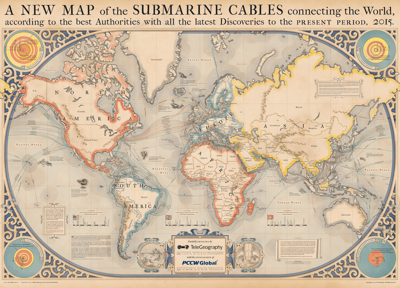 Map Shows Undersea Cable Locations That Are Critical for the