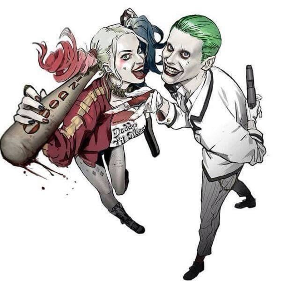 Fans jumped to create fan art for Harley and Joker long before the movie hit theaters.