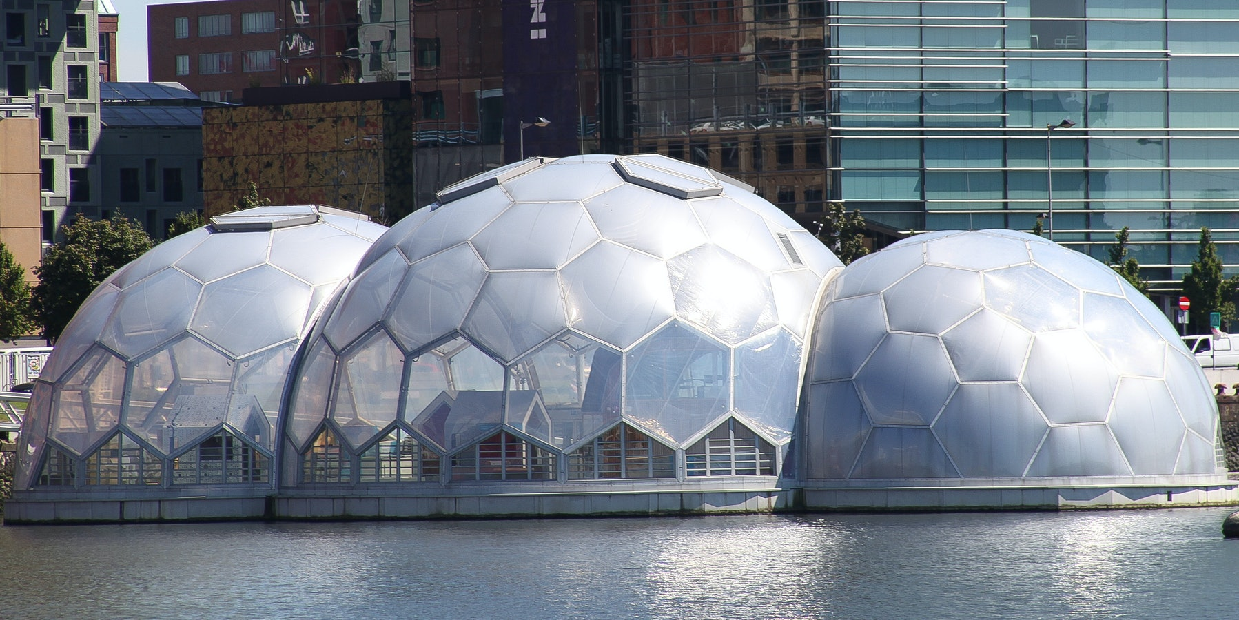 The Floating Pavilion in Rotterdam harbor.