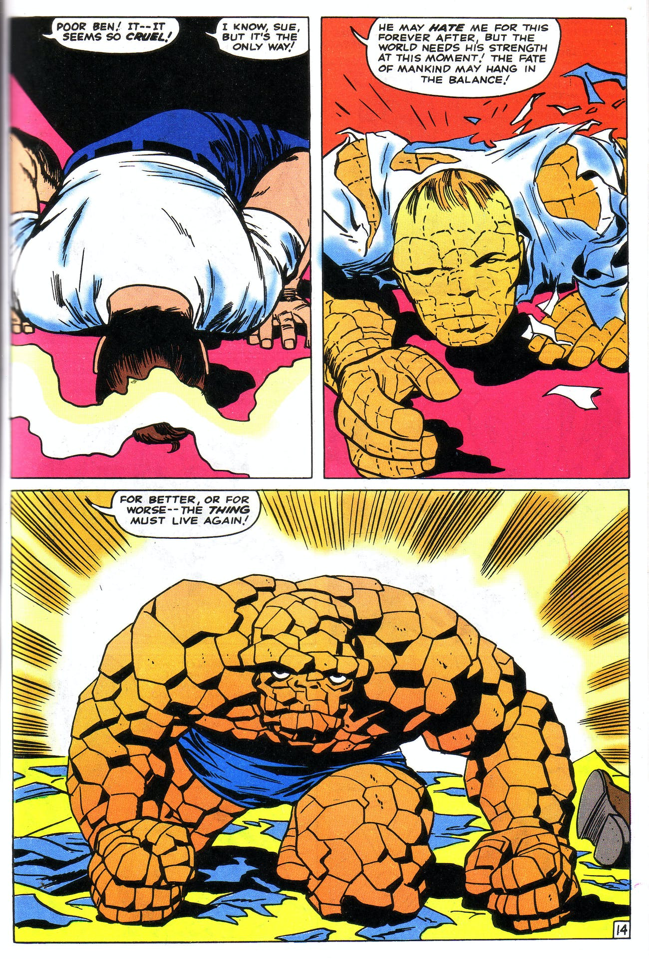 the thing comic origins marvel