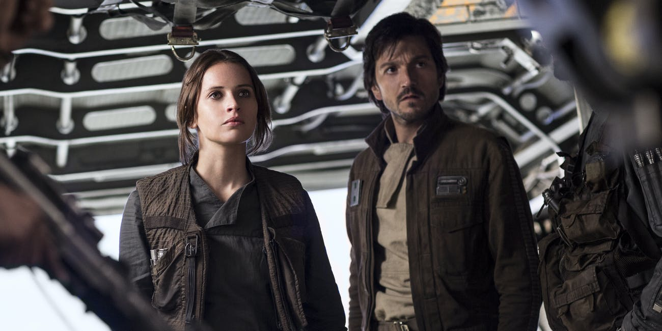 Rogue One Jyn and Cassian TV spot.