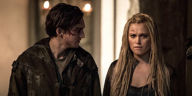 Murphy and Clarke on The 100