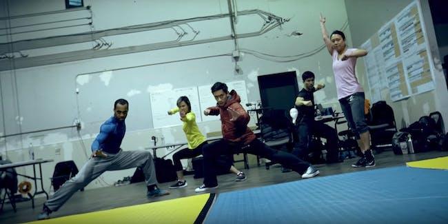 Power Rangers Fight Scene