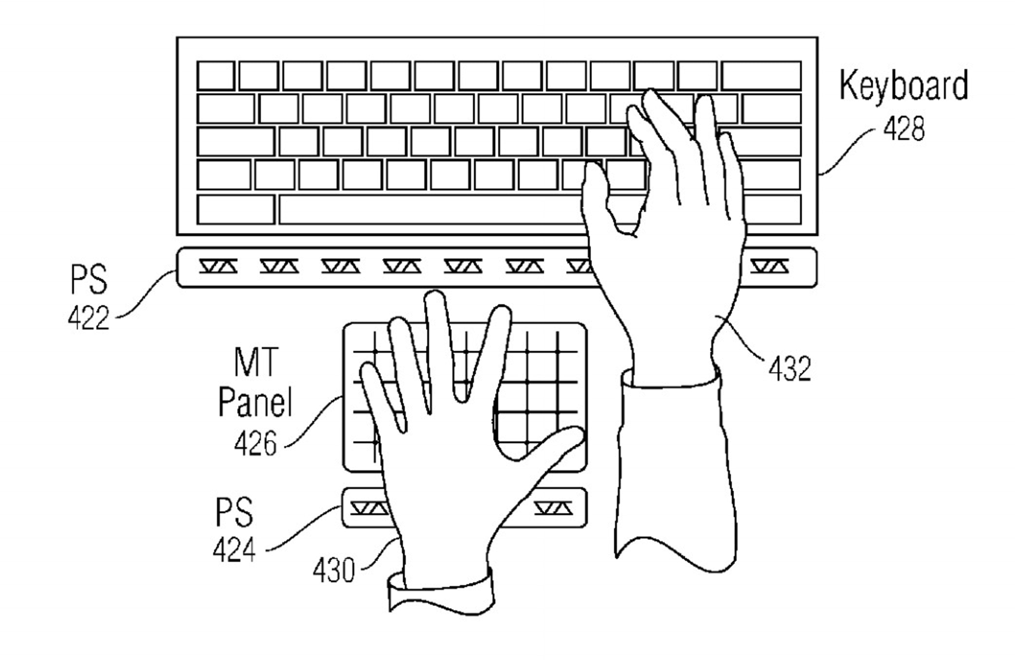 A non-touch panel could provide input in addition to a traditional touch keyboard.