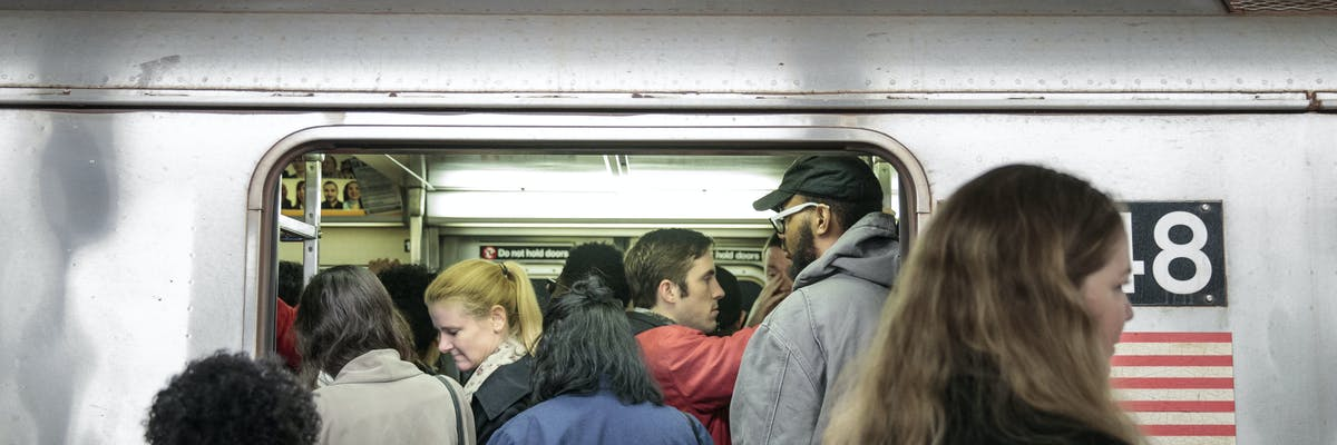 Subway passengers train