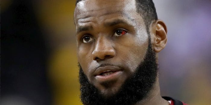 lebron james red eye terminator