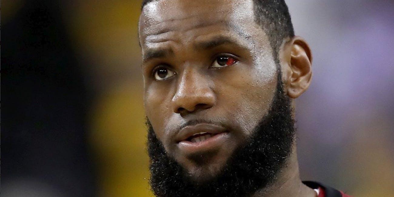 lebron james red eye terminator
